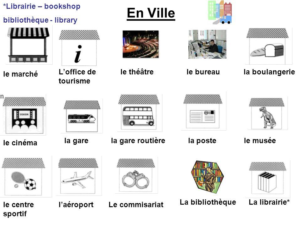 En Ville *Librairie – bookshop bibliothèque - library