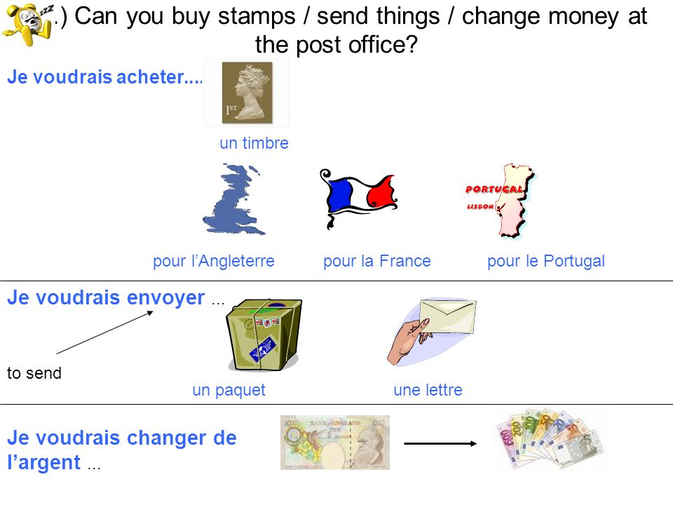 18.) Can you buy stamps / send things / change money at the post office