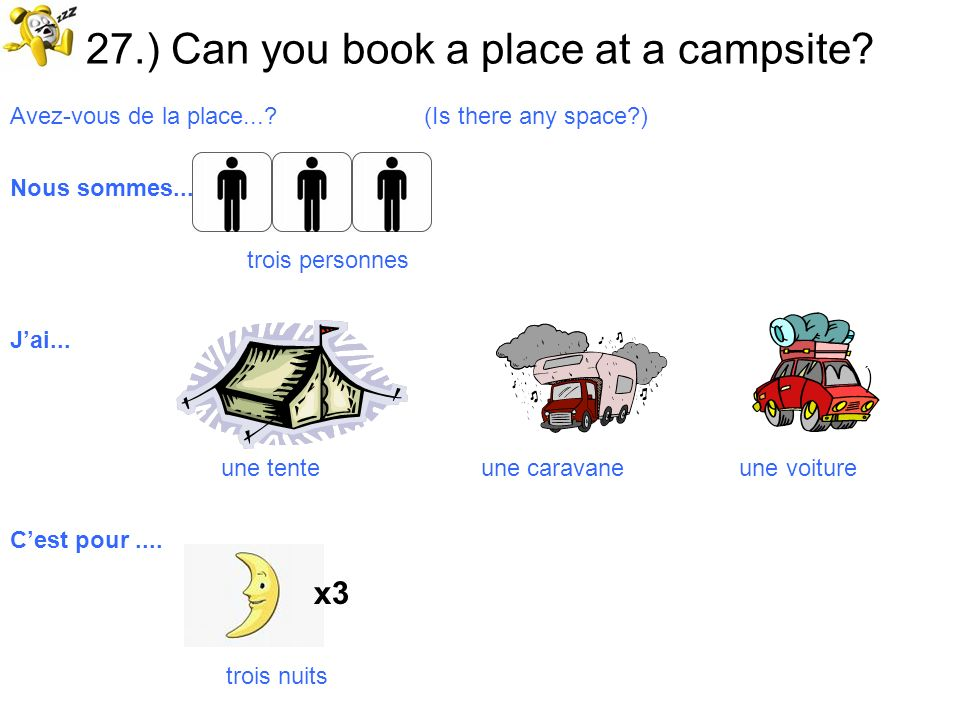 27.) Can you book a place at a campsite