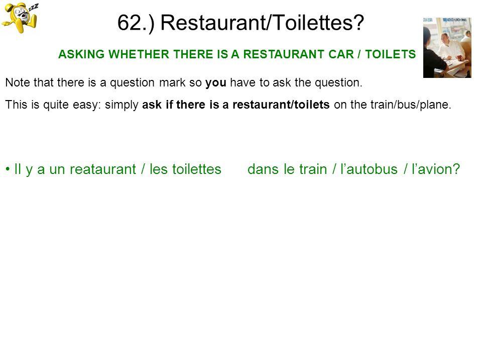 62.) Restaurant/Toilettes