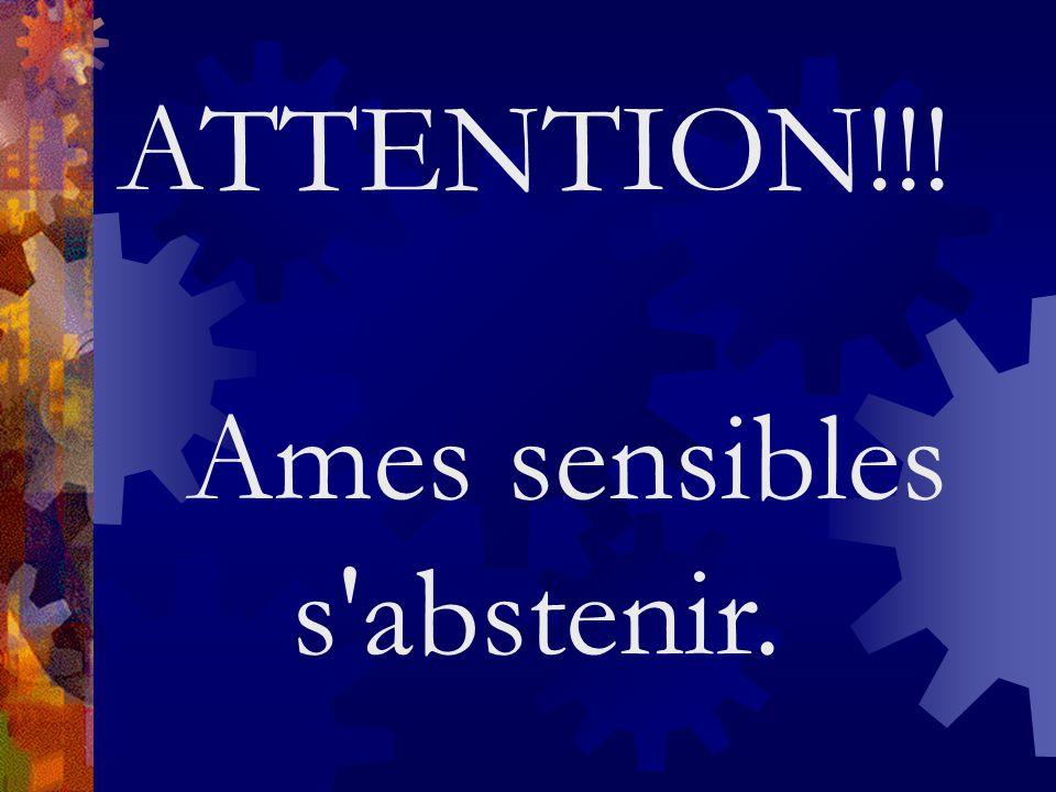Ames sensibles s abstenir.