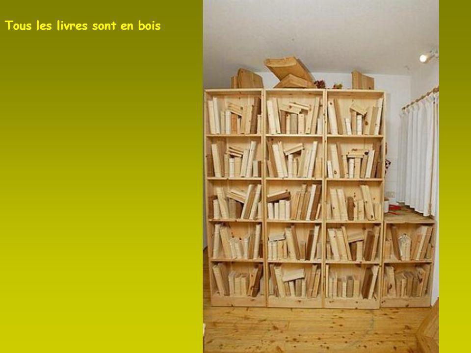 Tous les livres sont en bois