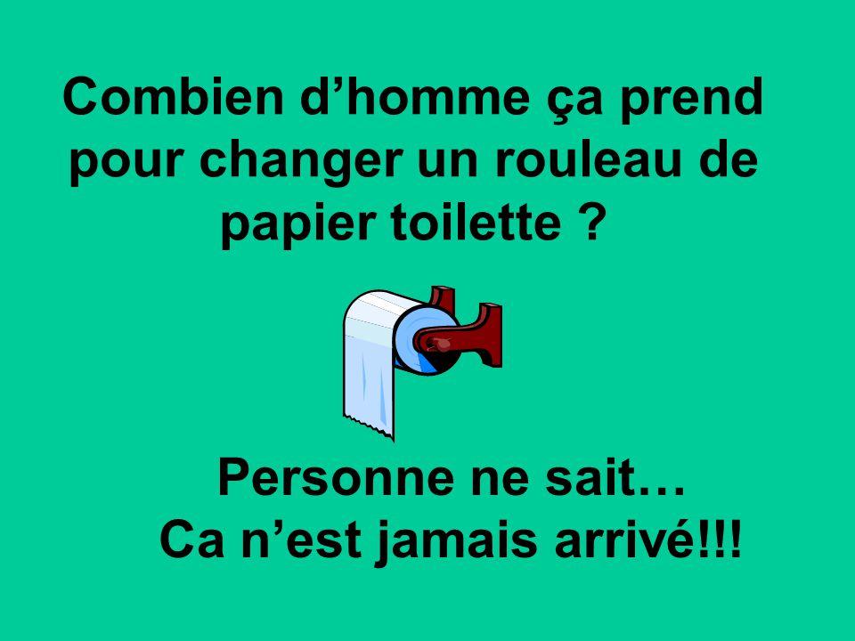 Combien d'homme ça prend pour changer un rouleau de papier toilette