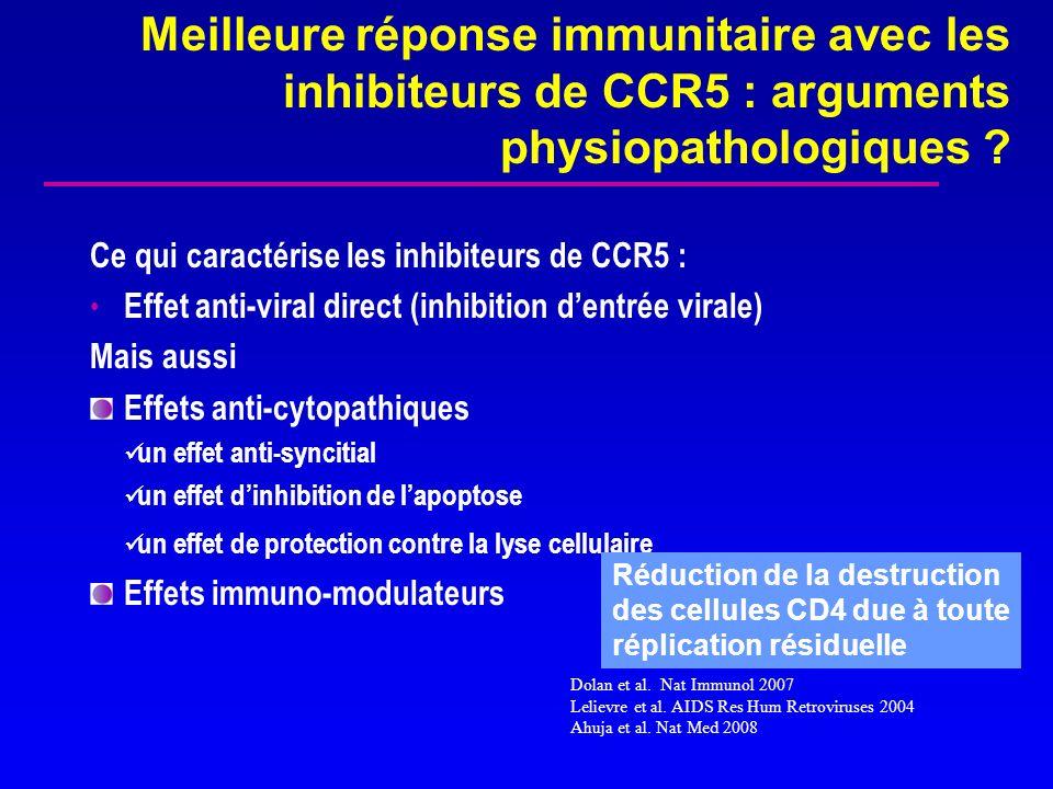 Meilleure réponse immunitaire avec les inhibiteurs de CCR5 : arguments physiopathologiques