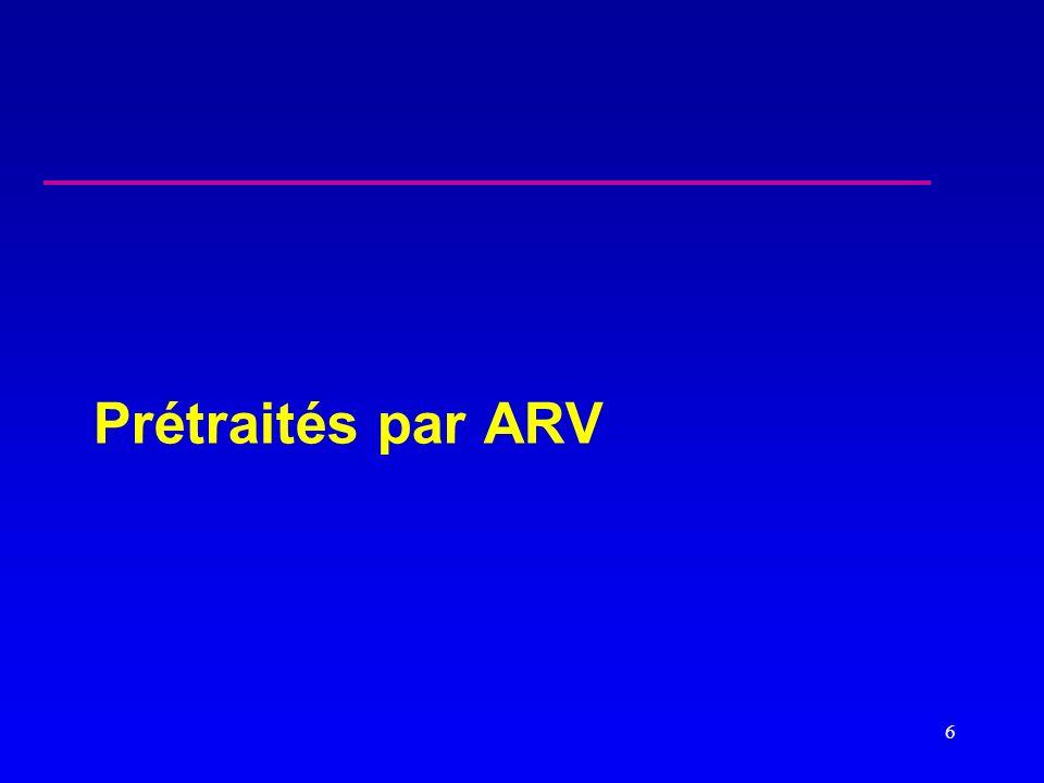 Prétraités par ARV