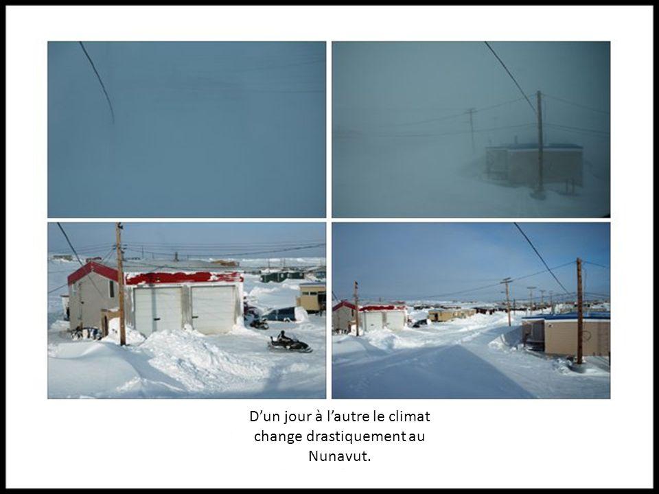 D'un jour à l'autre le climat change drastiquement au Nunavut.