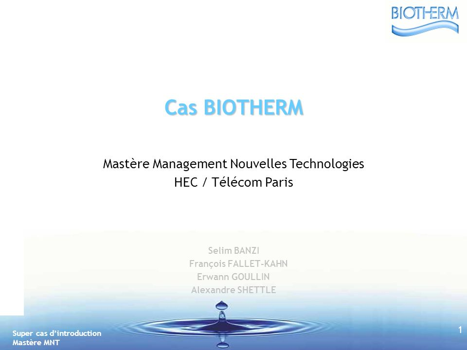Mastère Management Nouvelles Technologies