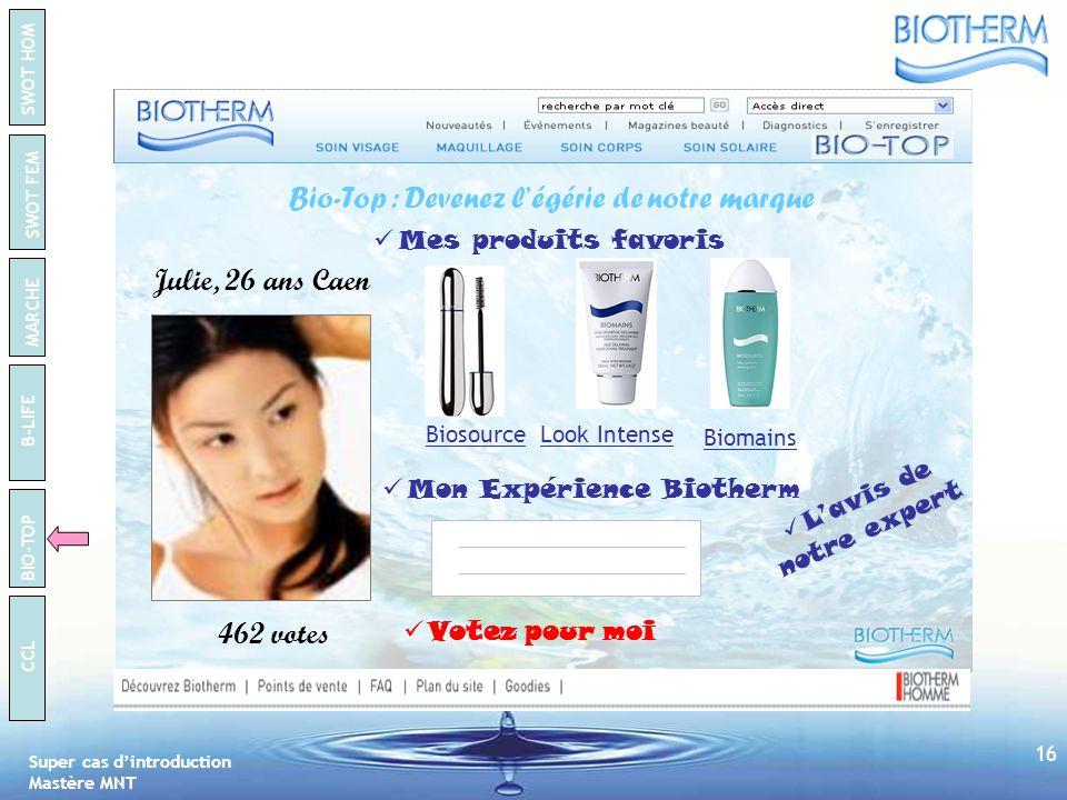 Bio-Top : Devenez l'égérie de notre marque