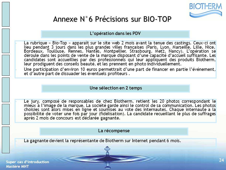 Annexe N°6 Précisions sur BIO-TOP