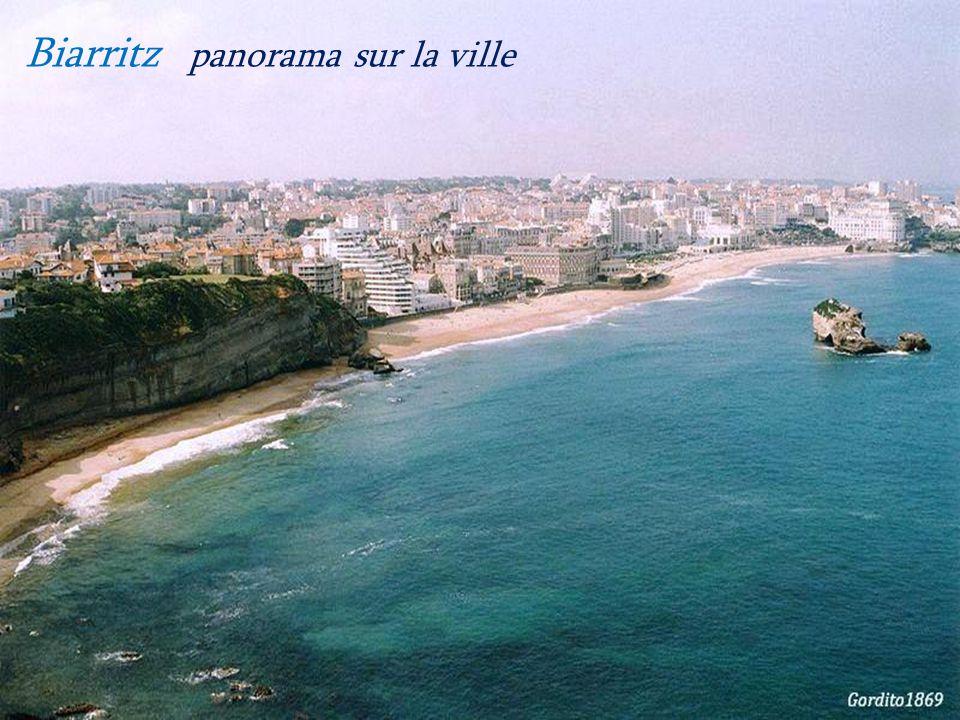 Biarritz panorama sur la ville