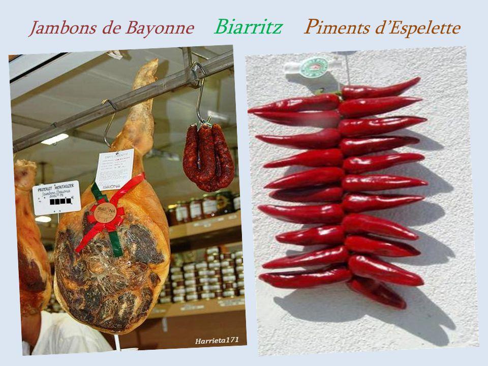 Jambons de Bayonne Biarritz Piments d'Espelette