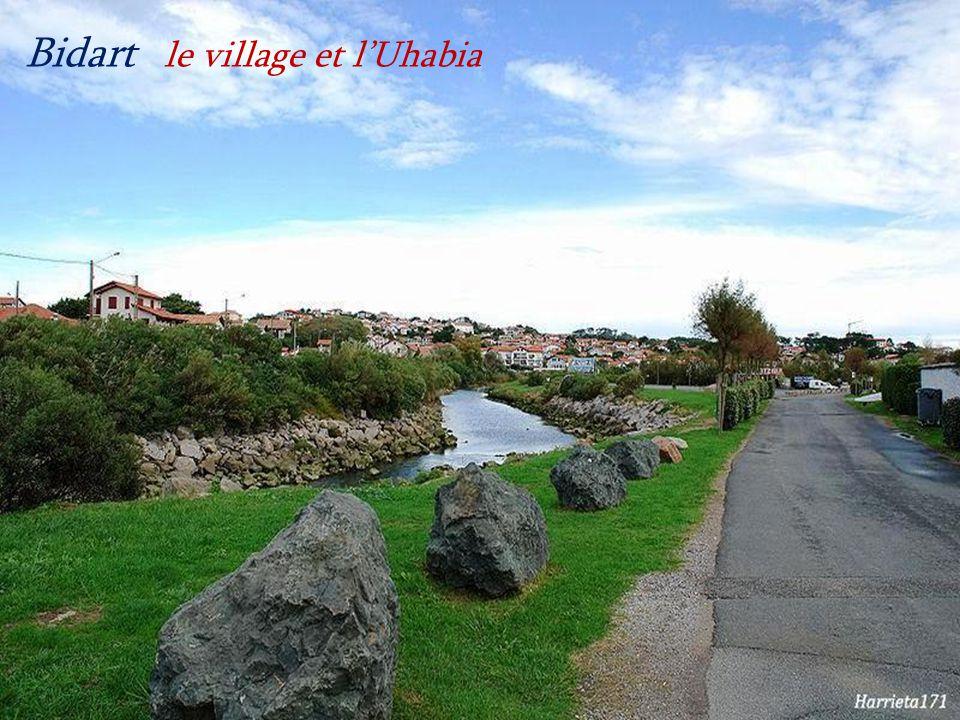 Bidart le village et l'Uhabia