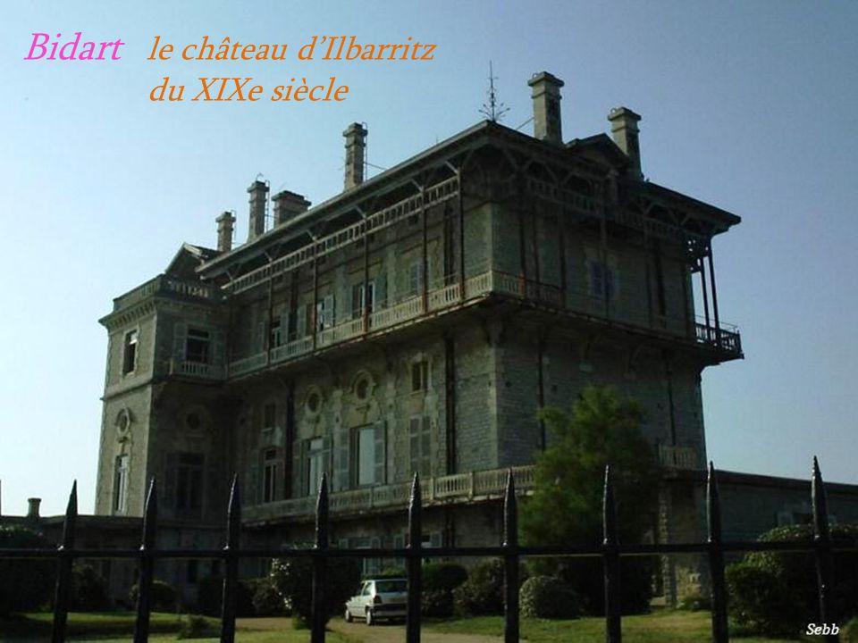 Bidart le château d'Ilbarritz . du XIXe siècle