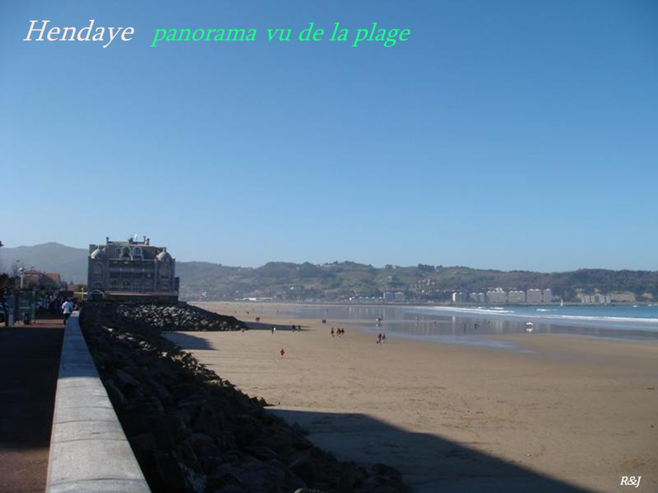 Hendaye panorama vu de la plage