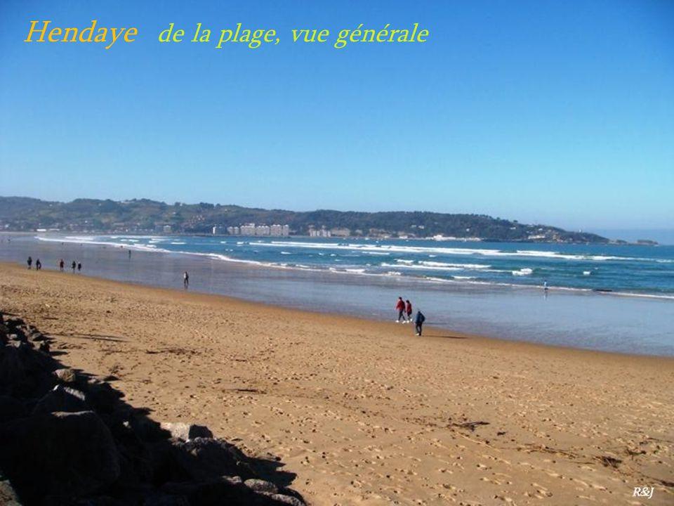 Hendaye de la plage, vue générale