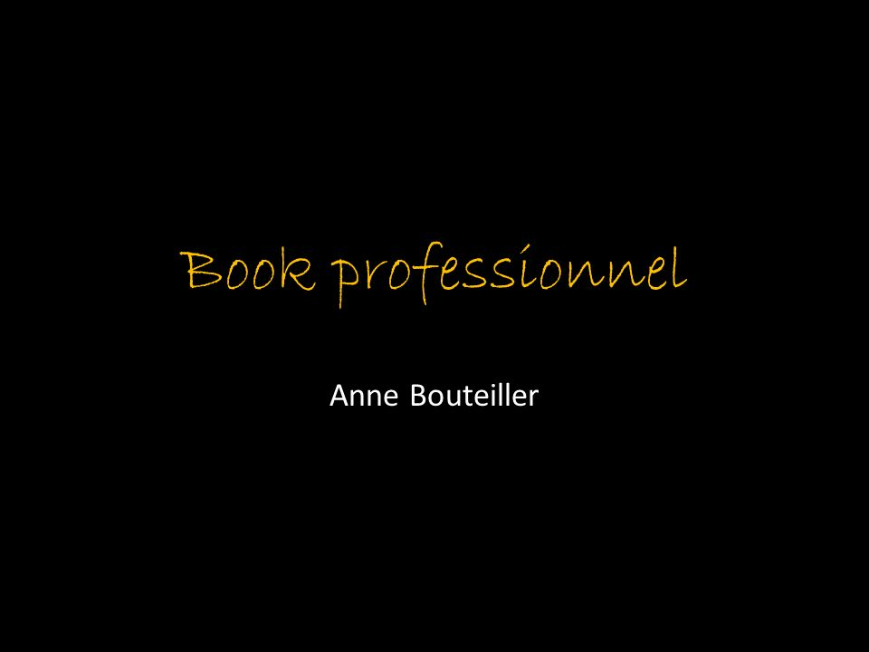 Book professionnel Anne Bouteiller