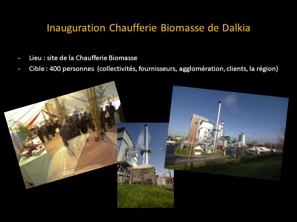 Inauguration Chaufferie Biomasse de Dalkia