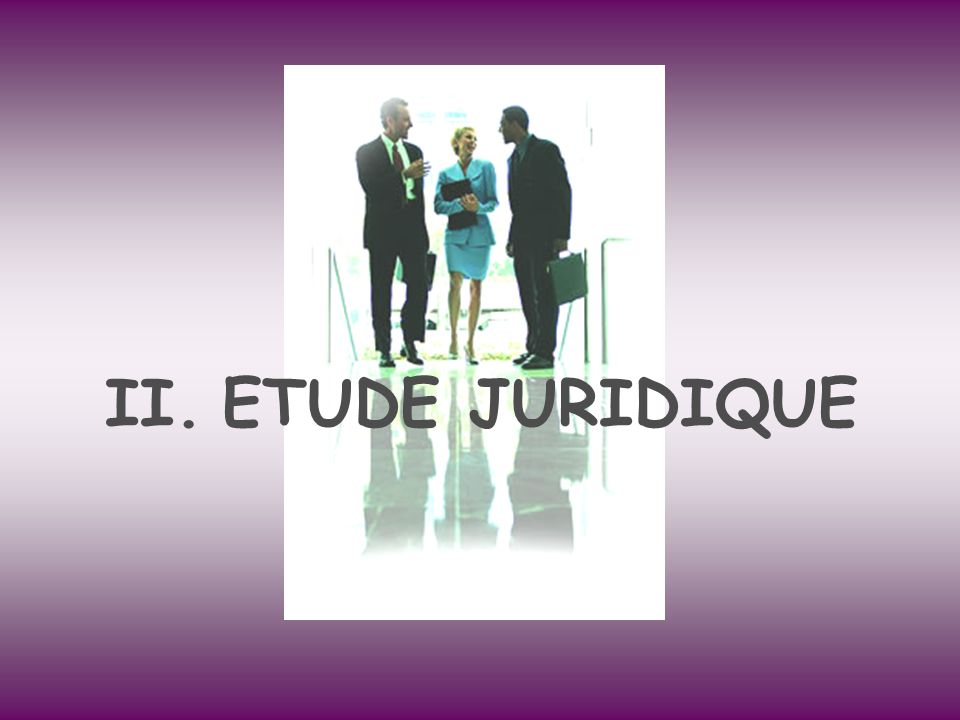 ETUDE JURIDIQUE