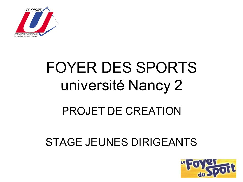 FOYER DES SPORTS université Nancy 2