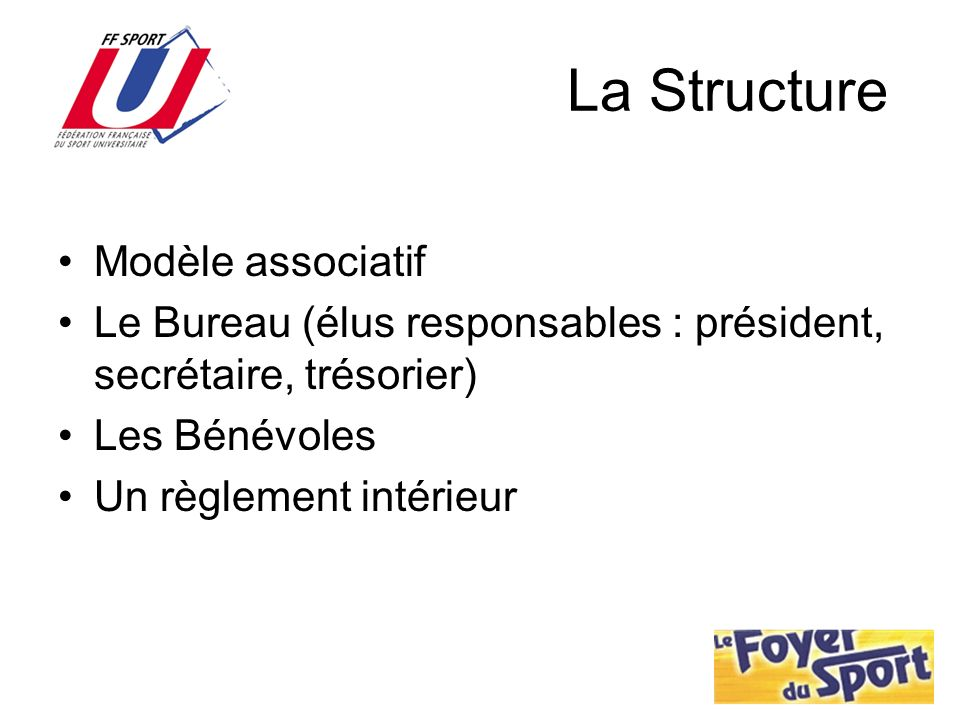 La Structure Modèle associatif