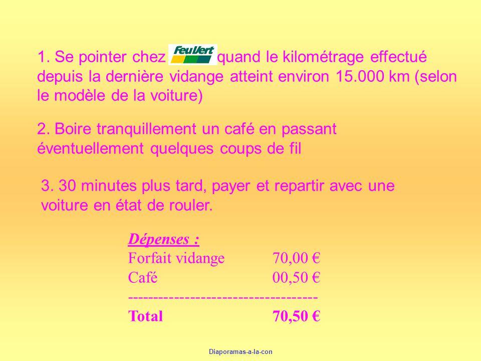 1. Se pointer chez quand le kilométrage effectué depuis la dernière vidange atteint environ 15.000 km (selon le modèle de la voiture)