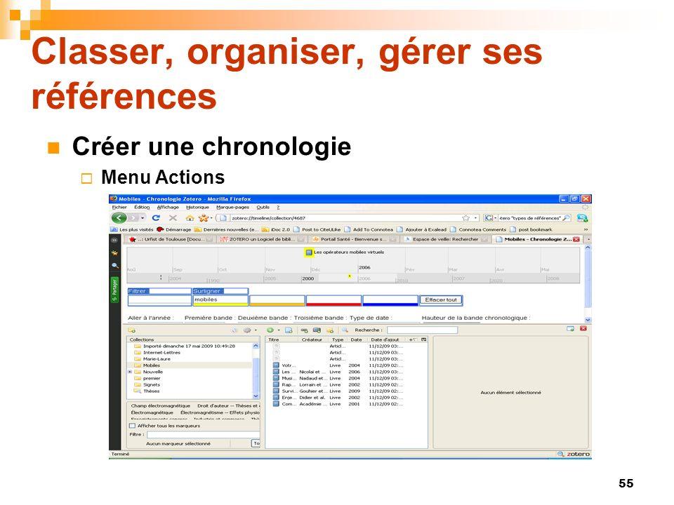 Classer, organiser, gérer ses références