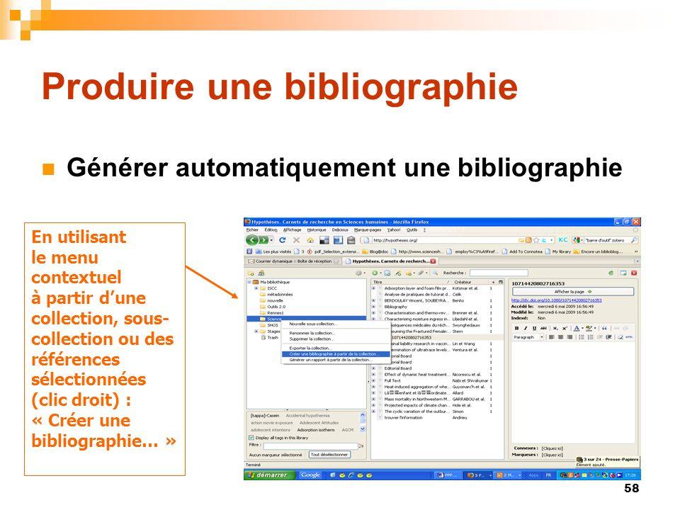 Produire une bibliographie