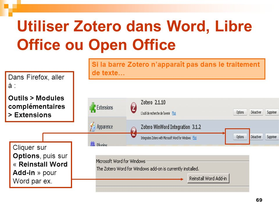 Utiliser Zotero dans Word, Libre Office ou Open Office