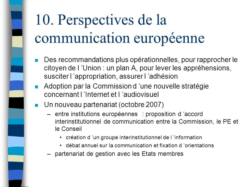 10. Perspectives de la communication européenne