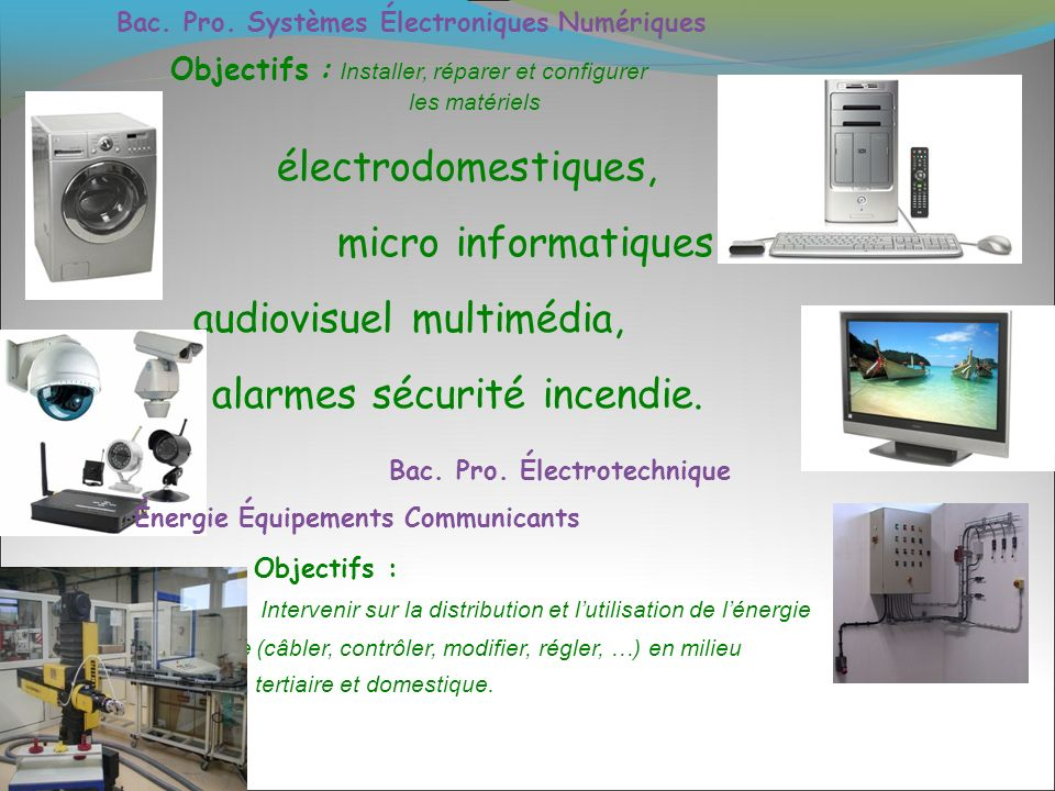 Bac. Pro. Électrotechnique