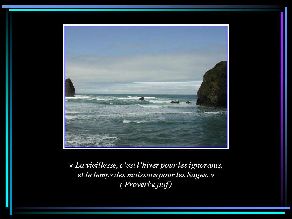 « La vieillesse, c'est l'hiver pour les ignorants, et le temps des moissons pour les Sages. »
