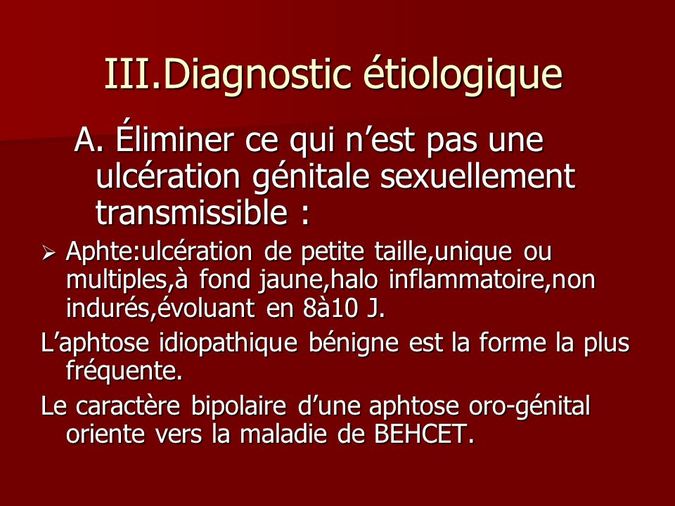 III.Diagnostic étiologique