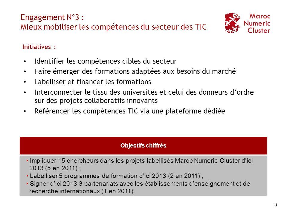 Engagement N°3 : Mieux mobiliser les compétences du secteur des TIC
