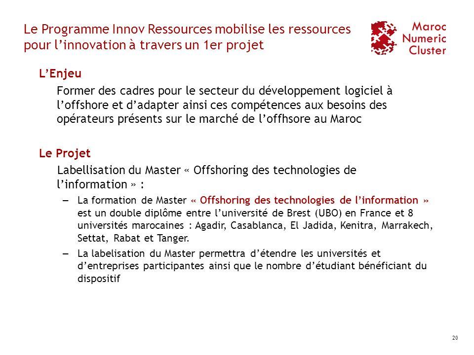 Le Programme Innov Ressources mobilise les ressources pour l'innovation à travers un 1er projet