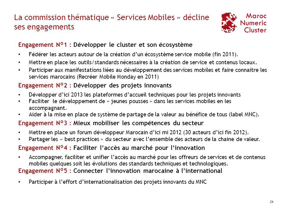 La commission thématique « Services Mobiles » décline ses engagements
