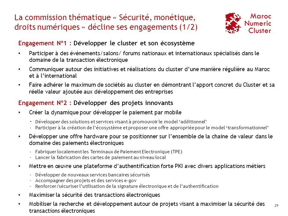 La commission thématique « Sécurité, monétique, droits numériques » décline ses engagements (1/2)