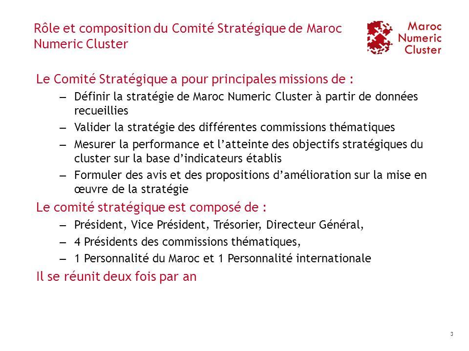 Rôle et composition du Comité Stratégique de Maroc Numeric Cluster