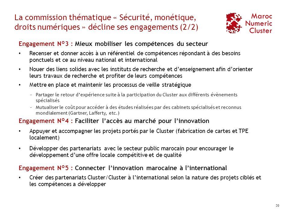La commission thématique « Sécurité, monétique, droits numériques » décline ses engagements (2/2)