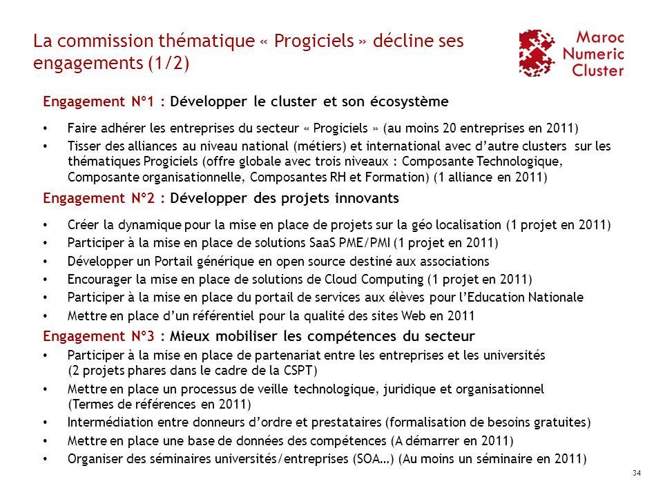La commission thématique « Progiciels » décline ses engagements (1/2)