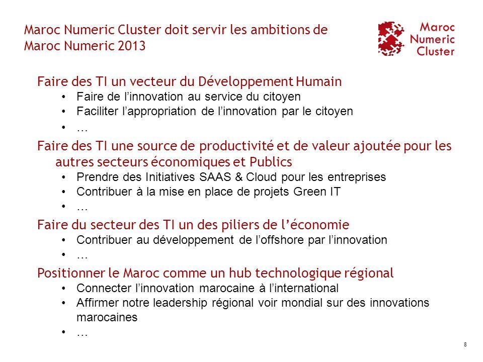 Maroc Numeric Cluster doit servir les ambitions de Maroc Numeric 2013