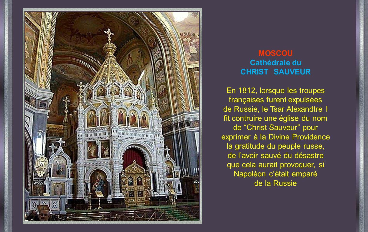 MOSCOU Cathédrale du CHRIST SAUVEUR