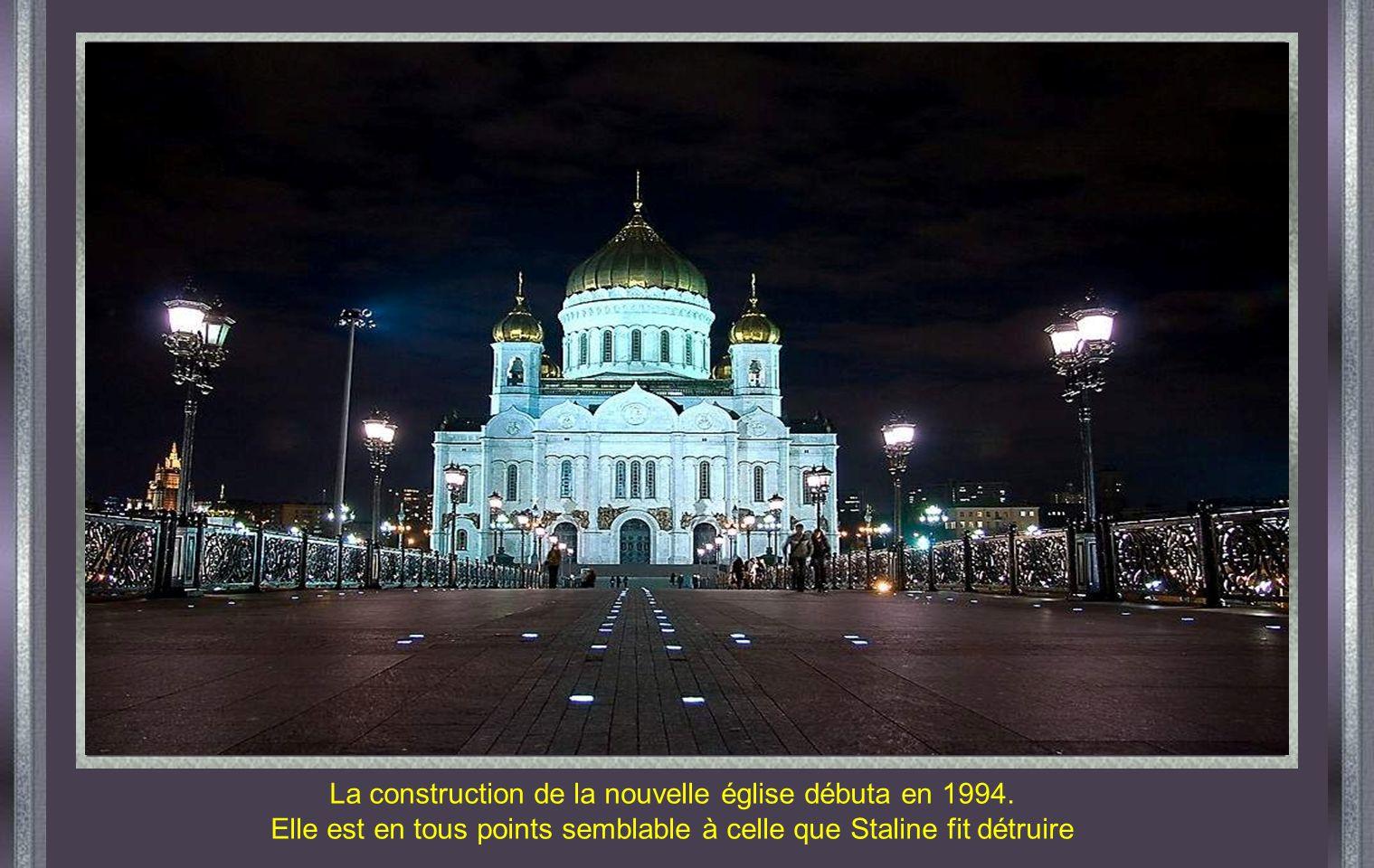 La construction de la nouvelle église débuta en 1994.