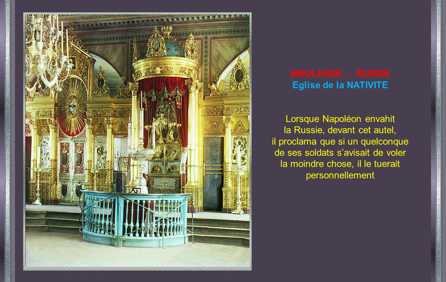 SMOLENSK - RUSSIE Eglise de la NATIVITE