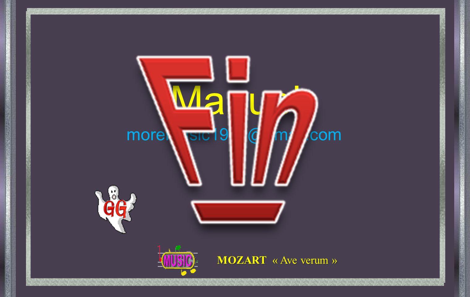 Manuel moremusic1939@gmail.com MOZART « Ave verum »