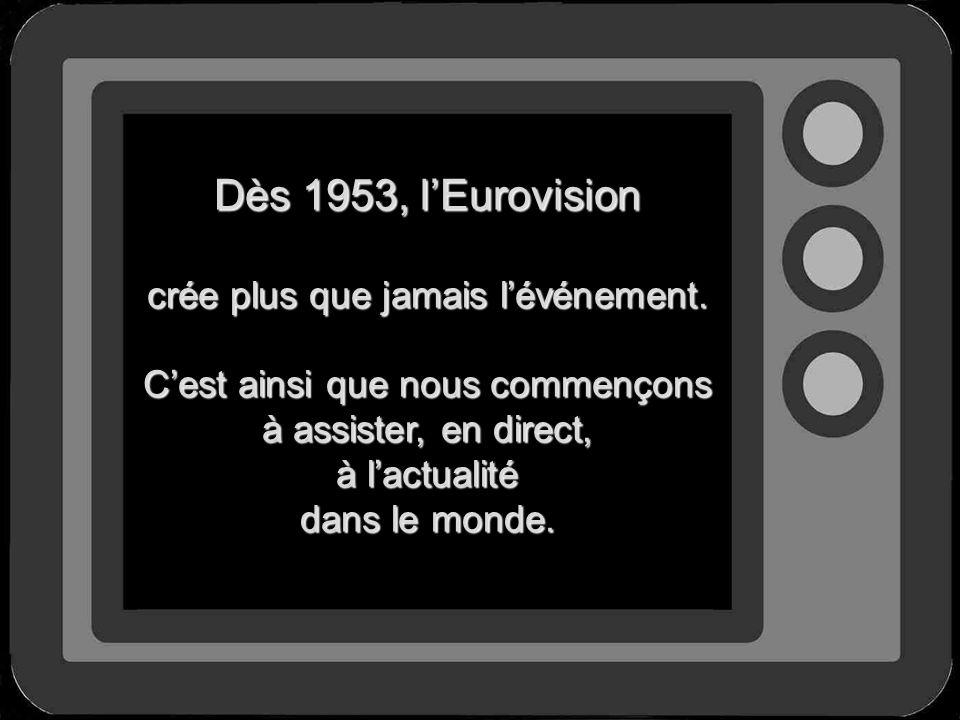 Dès 1953, l'Eurovision crée plus que jamais l'événement.