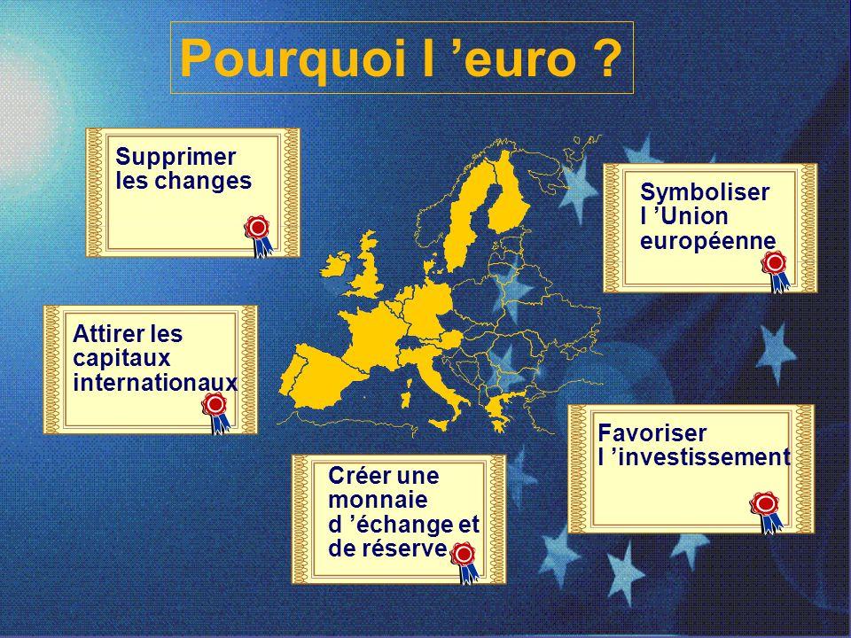 Pourquoi l 'euro Supprimer les changes