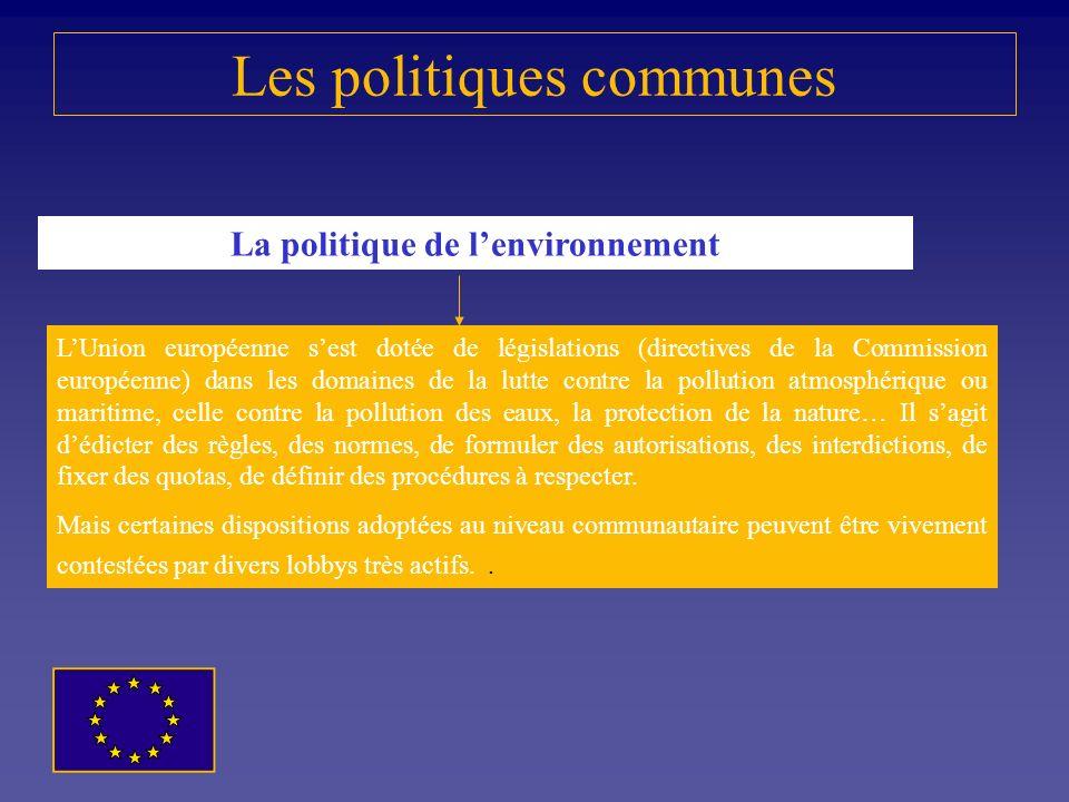 Les politiques communes