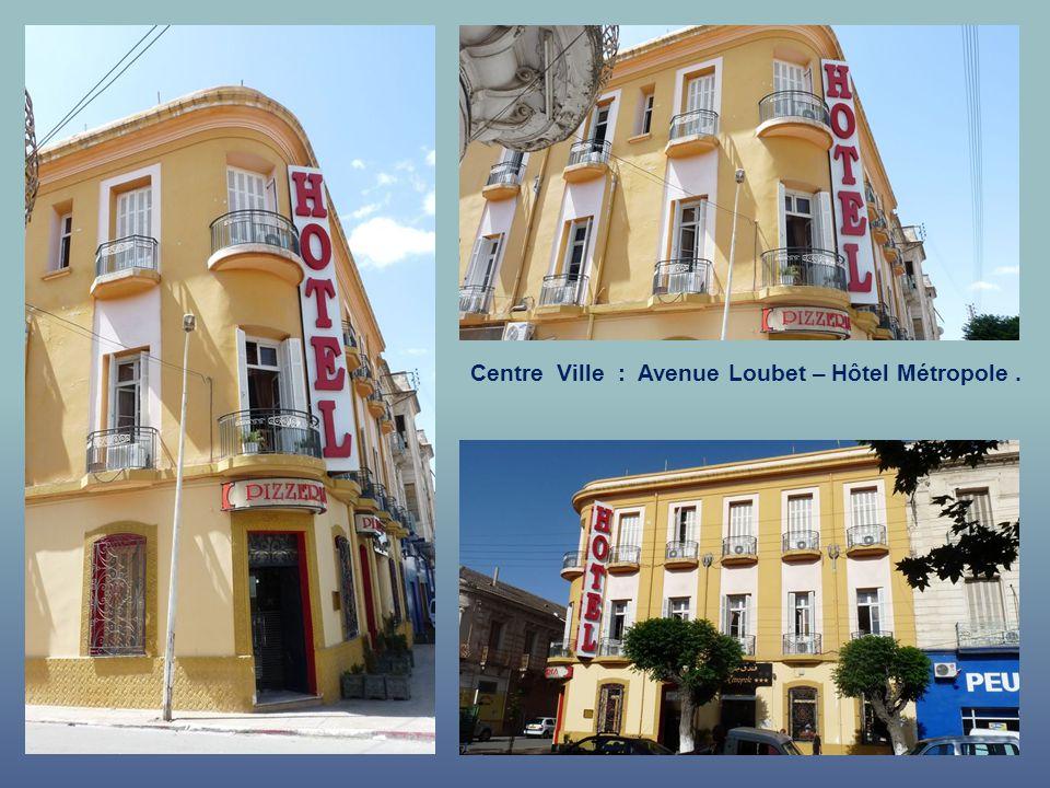 Centre Ville : Avenue Loubet – Hôtel Métropole .