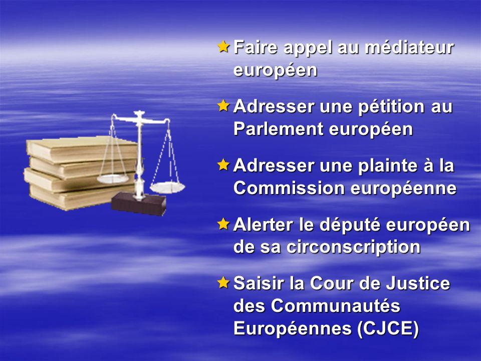 Faire appel au médiateur européen