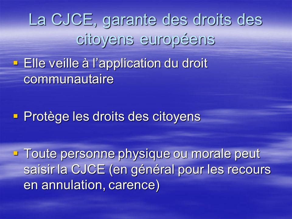La CJCE, garante des droits des citoyens européens